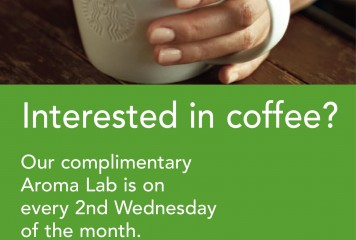 Complimentary Aroma Lab at Starbucks!