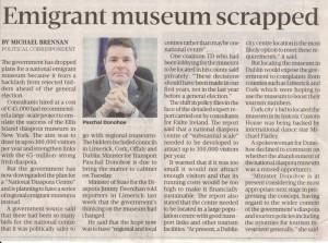 150215 Emigrant Musuem Scrapped